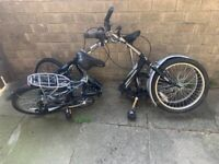 2 Foldable bikes very comfortable made cycles