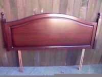 Dark wood Headboard Ideal Shabby chic Project Delivery Available