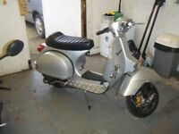 Vespa PX 210 registered as 125 with SIP parts, quick, reliable scooter!