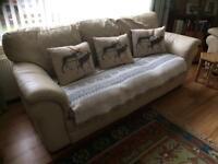 Leather sofa.