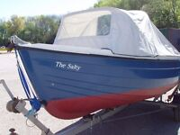 Orkney Coastliner fishing boat family day boat outboard motor engine and trailer