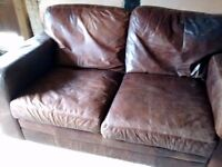 Brown Leather Sofa, any offers considered