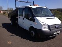 2014 FORD TRANSIT CREWCAB TIPPER FOR HIRE