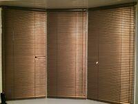 3 metallic brown venetian blinds