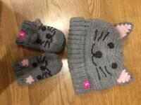 Joules hat and mittens for baby