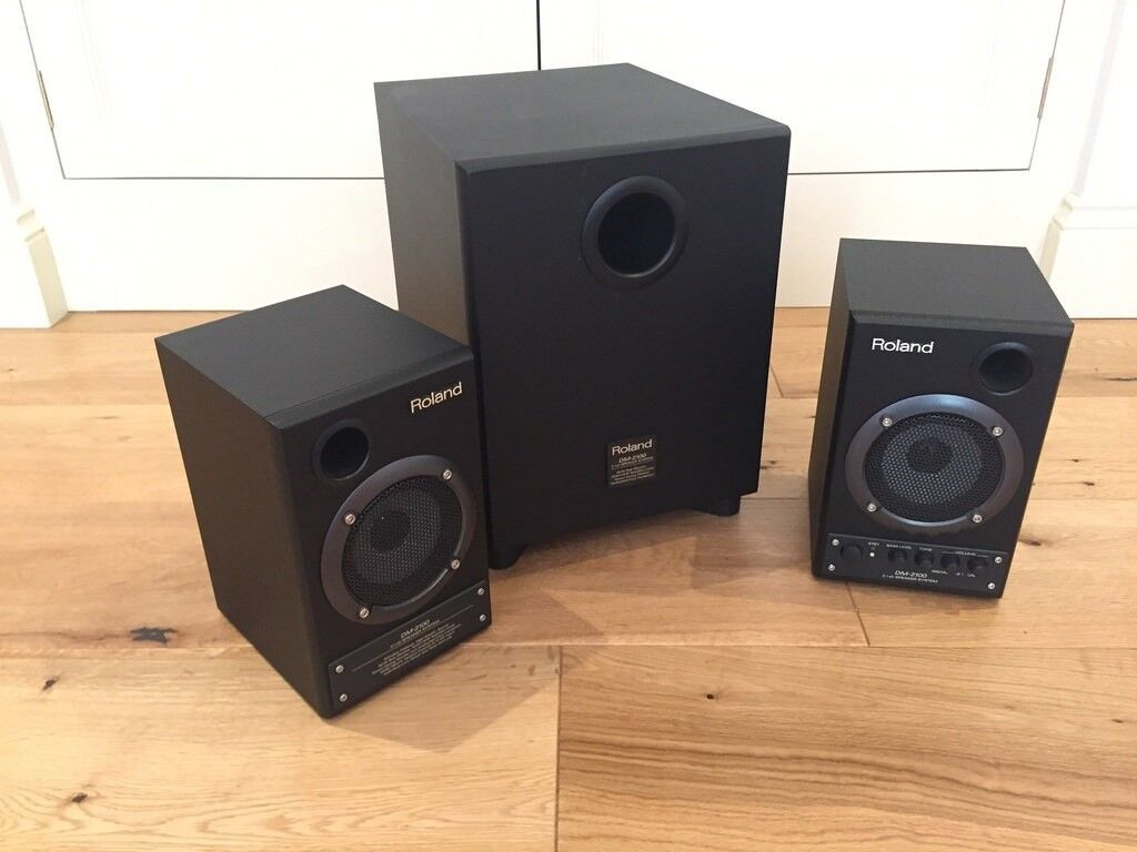 Matched Pair Fostex 6301b Active Powered Speakers With Amplifiers ref 2 Video Production & Editing