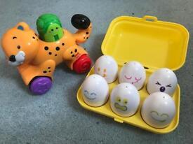 Tony eggs and push along bundle