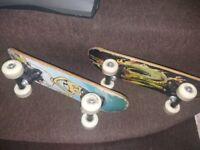Children skateboard 2 of them