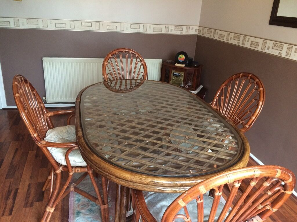 Cane dining table and 4 chairs in Wolverhampton West  : 86 from www.gumtree.com size 1024 x 768 jpeg 134kB