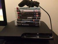 120GB PS3 slim & 8 games