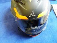 Various crash helmets.