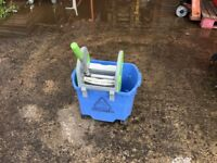NUMATIC LARGE 30LTR MOP BUCKET / WRINGER BLUE
