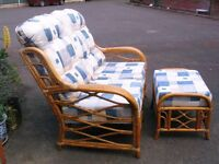 garden sofa, rattan wicker habitat outdoor sofa and stool, conservatory furniture, cane patio set