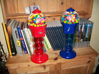 Two Bubble Gum Machines.