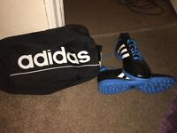 Adidas Football Boots with bag, size UK 11.