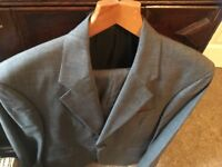 Grey check two piece gents suit