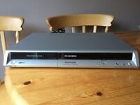 PANASONIC DVD PLAYER / RECORDER MODEL NO DMR-ES15EB WITH REMOTE CONTROL AND LEADS