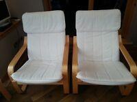 Ikea Poang Armchairs