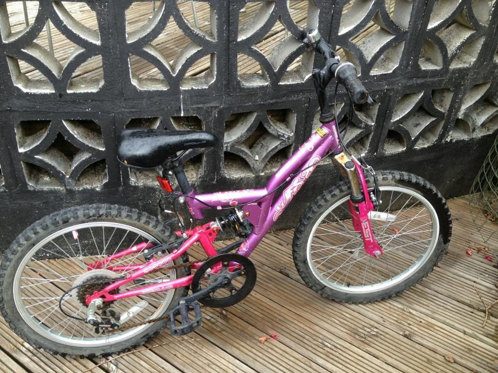 Girls 18 Quot Apollo Bike Pink And Purple In Plymouth Devon