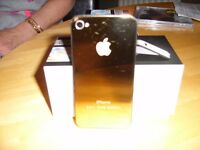 Apple iphone 4 24ct Gold backing cover