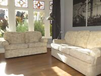 Cream Floral M&S MARKS & SPENCER 2 & 3 Seater Sofas (2 Piece Suite)