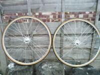 track bike fixed wheels - campagnolo record hubs mavic monthlery rims Berg Union SS spokes