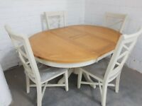 Ex Display DFS Bordeaux Extending Dining table + 4 Chairs RRP £1199