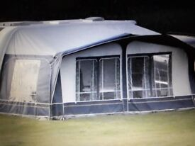 Dorema Caravan Awning, with bedroom annex. Blue/Grey in colour in good condition.