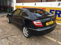 2005 MERCEDES C200 1.8 COUPE MANUAL FULL LEATHERS 1 OWNER 102 000 MILES