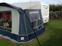 Dorema Daytona size 13 awning. 950-975cm in length. Grey and blue. In good condition