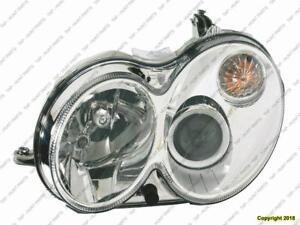 Head Lamp Driver Side Without Curve Lighting Without Bulb/Module Clk Models High Quality Mercedes C-Class 2008-2009