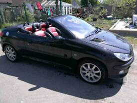 Peugeot 206 CC ALLURE Convertible Full Year MOT