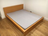ikea kingsize bed with mattress