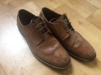 Pair of size 8 men's brown smart shoes. Worn three times, great condition