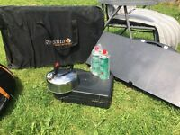 Vango Midas 800 8 berth tent with side canopy. Inc lots of accesories