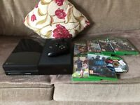 Xbox one good condition with games and controller