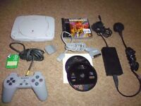 playstation one ps1 console bundle