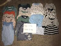 Boys clothes 6-9 months vests / all in ones