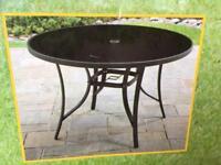 New Black Circular Garden Table