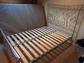 Double Metal Bedstead & Matress