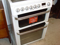 HOTPOINT DUAL FUEL COOKER.