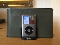 iPod 160GB Classic + Case + Speaker Works But Needs New Battery