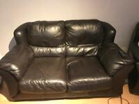 Leather couch & 2 chairs