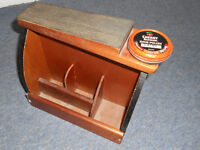 Vintage Shoe Shine Foot Rest and Box
