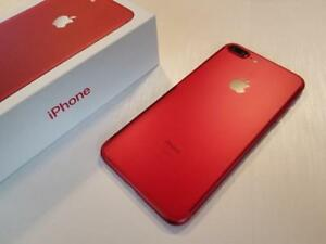 Apple iPhone 7 PLUS 128GB RED - w/AppleCare+ - UNLOCKED W/FREEDOM - RARE - Guaranteed Activation + No Blacklist