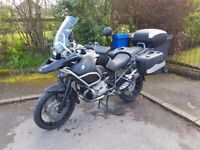 2013 BMW R1200 GS Adventure Triple Black with Full Luggage and BMW Service History