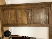 Wood Headboard Double