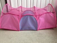 Pop up tent and tunnel