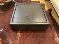 Mid Century Leather Coffee Table 70s-80s design