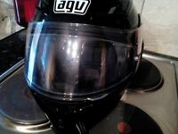For sale AS NEW AGV COMPACT FULL FACE HELMET IN BLACK .COST NEW £170 WILL SELL FOR ONLY £79.